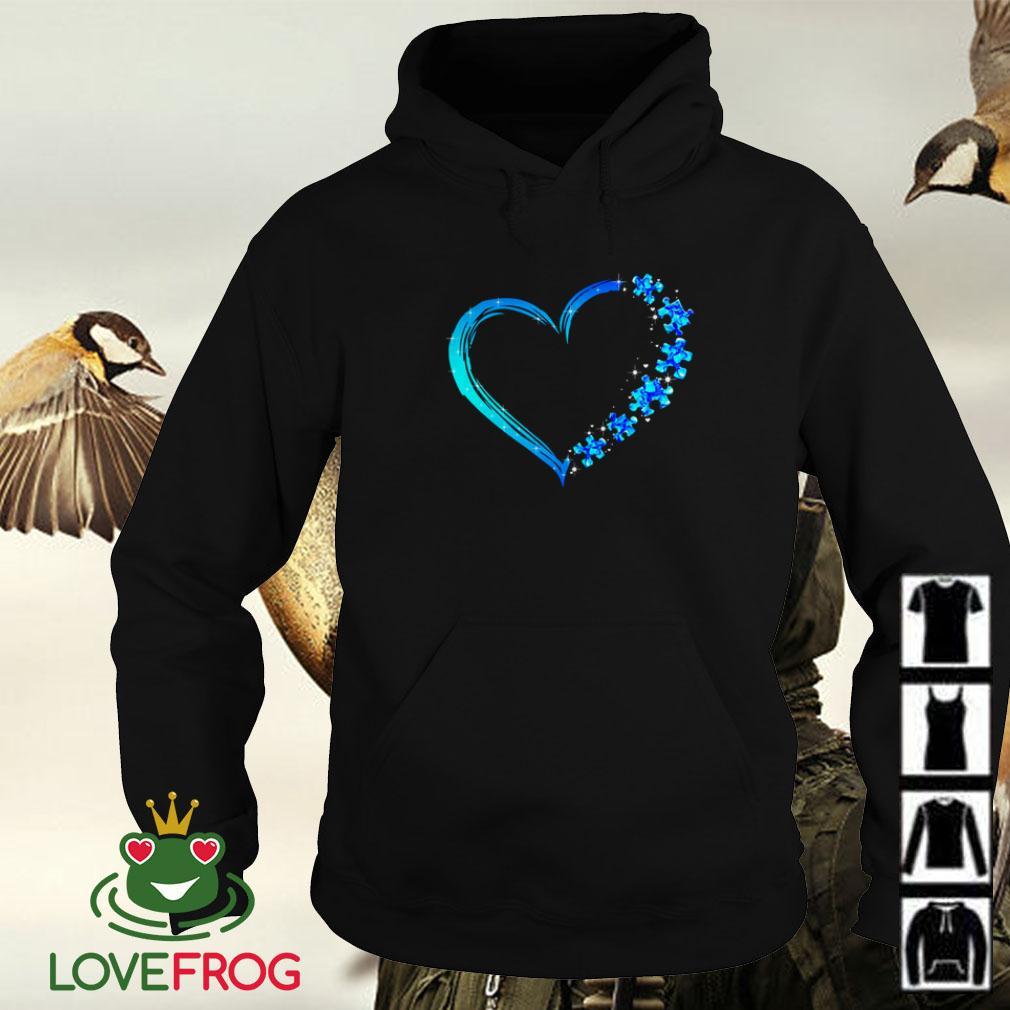 Love Autism heart Hoodie