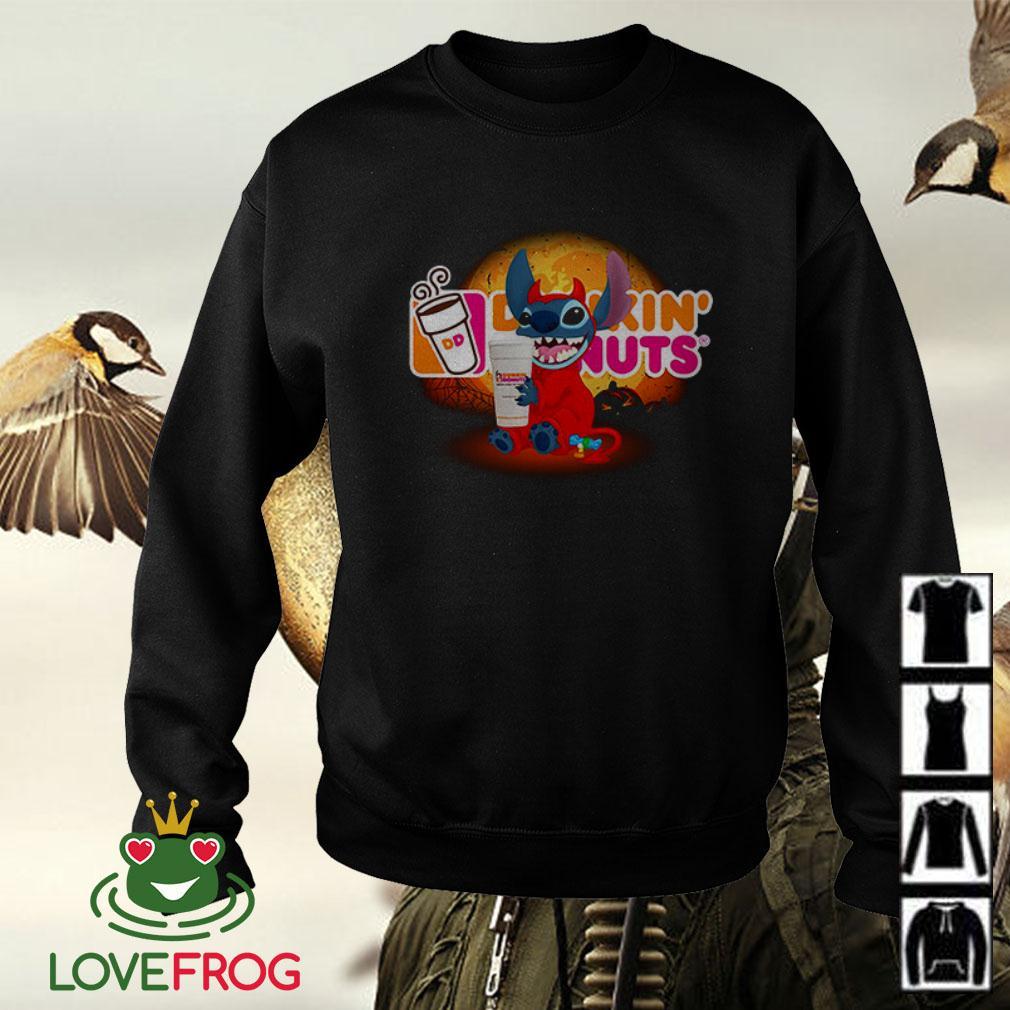 Stitch hugging Dunkin' Donuts Halloween Sweater