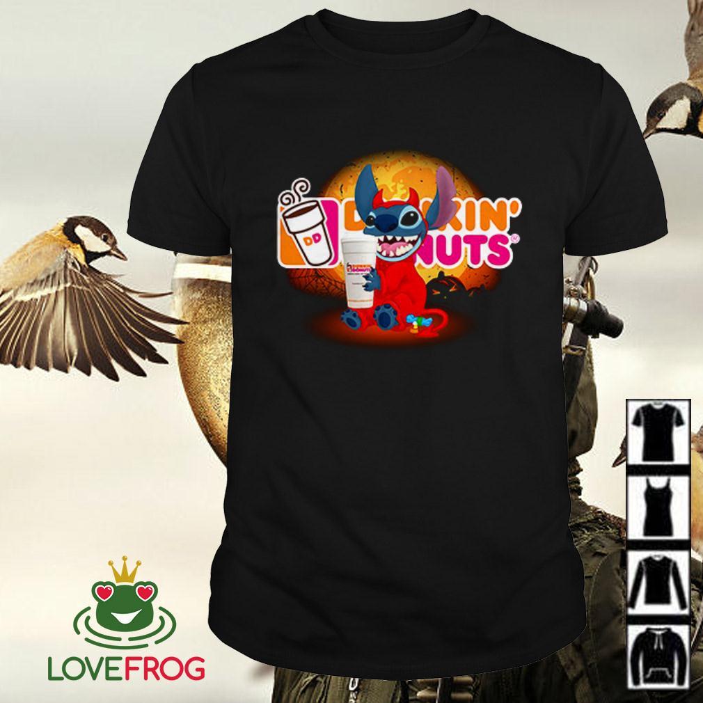 Stitch hugging Dunkin' Donuts Halloween shirt