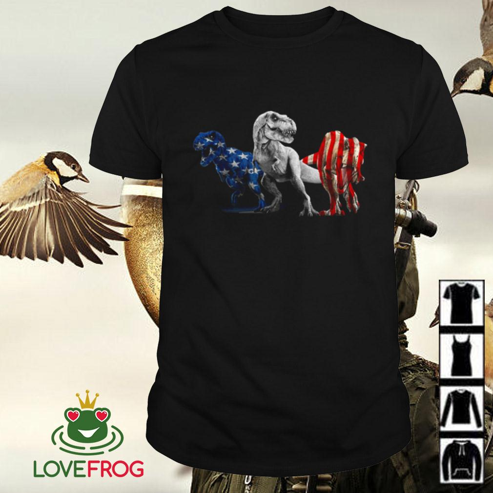 Dinosaur America Flag 4th of July T-rex shirt