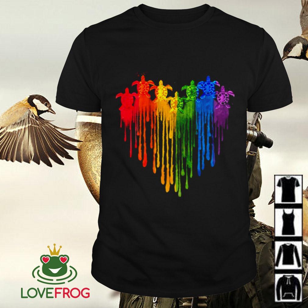 LGBT heart turtle shirt