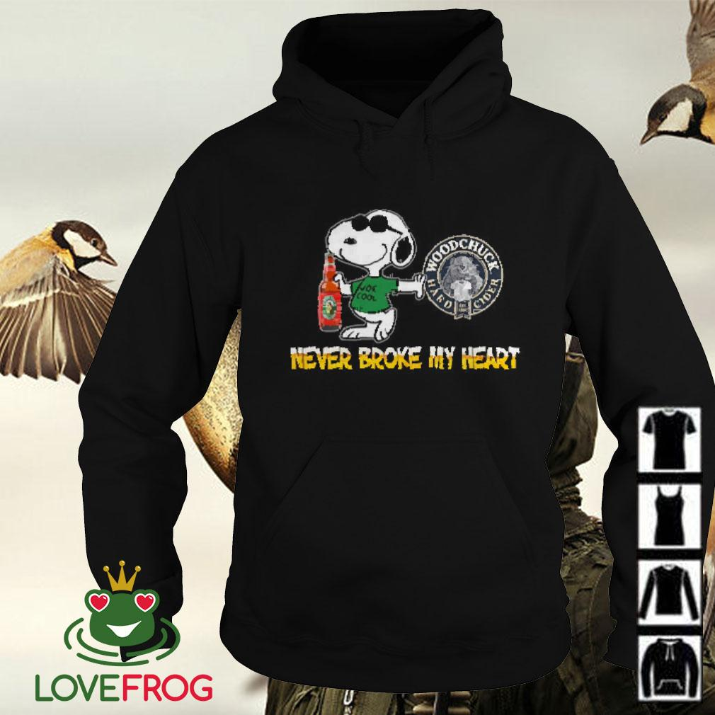 Snoopy Woodchuck Hard Cider never block my heart Hoodie