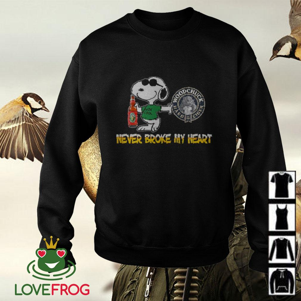 Snoopy Woodchuck Hard Cider never block my heart Sweater