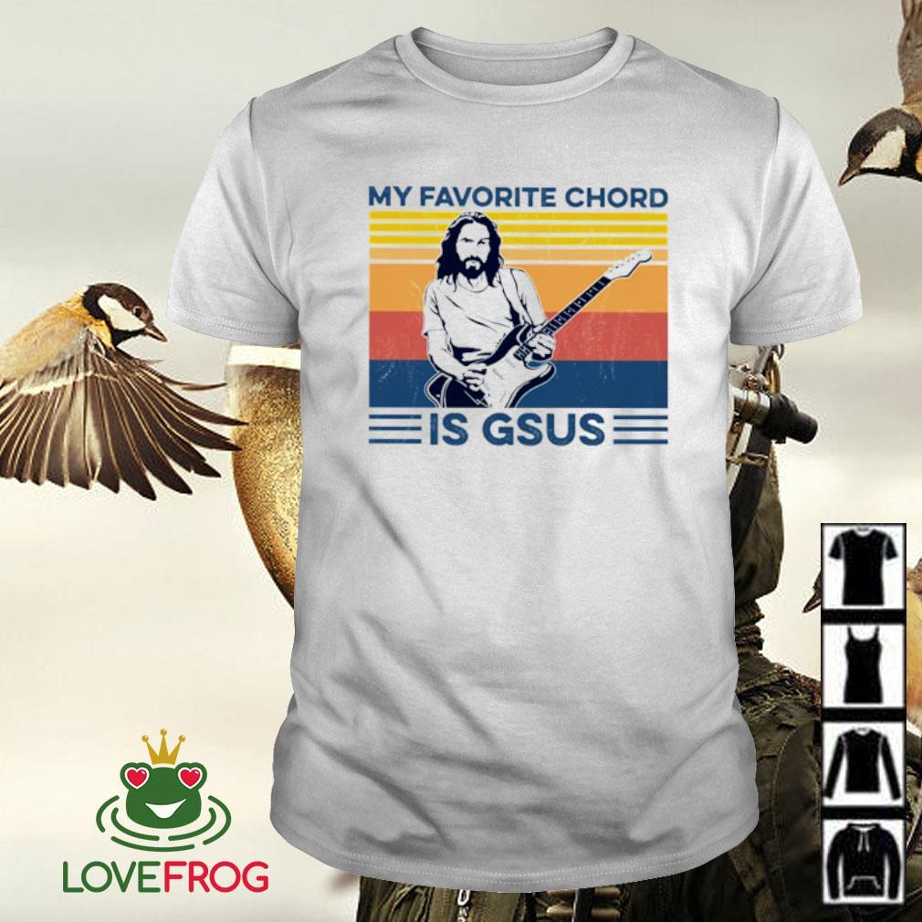 jesus guitar My favorite chord is gsus vintage shirt