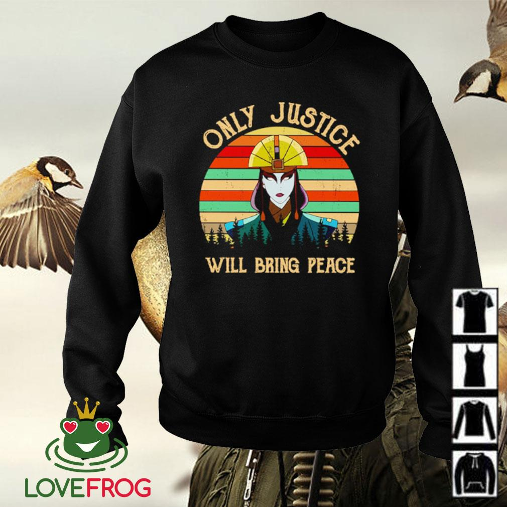 Only Justice Will Bring Peace vintage s Sweater