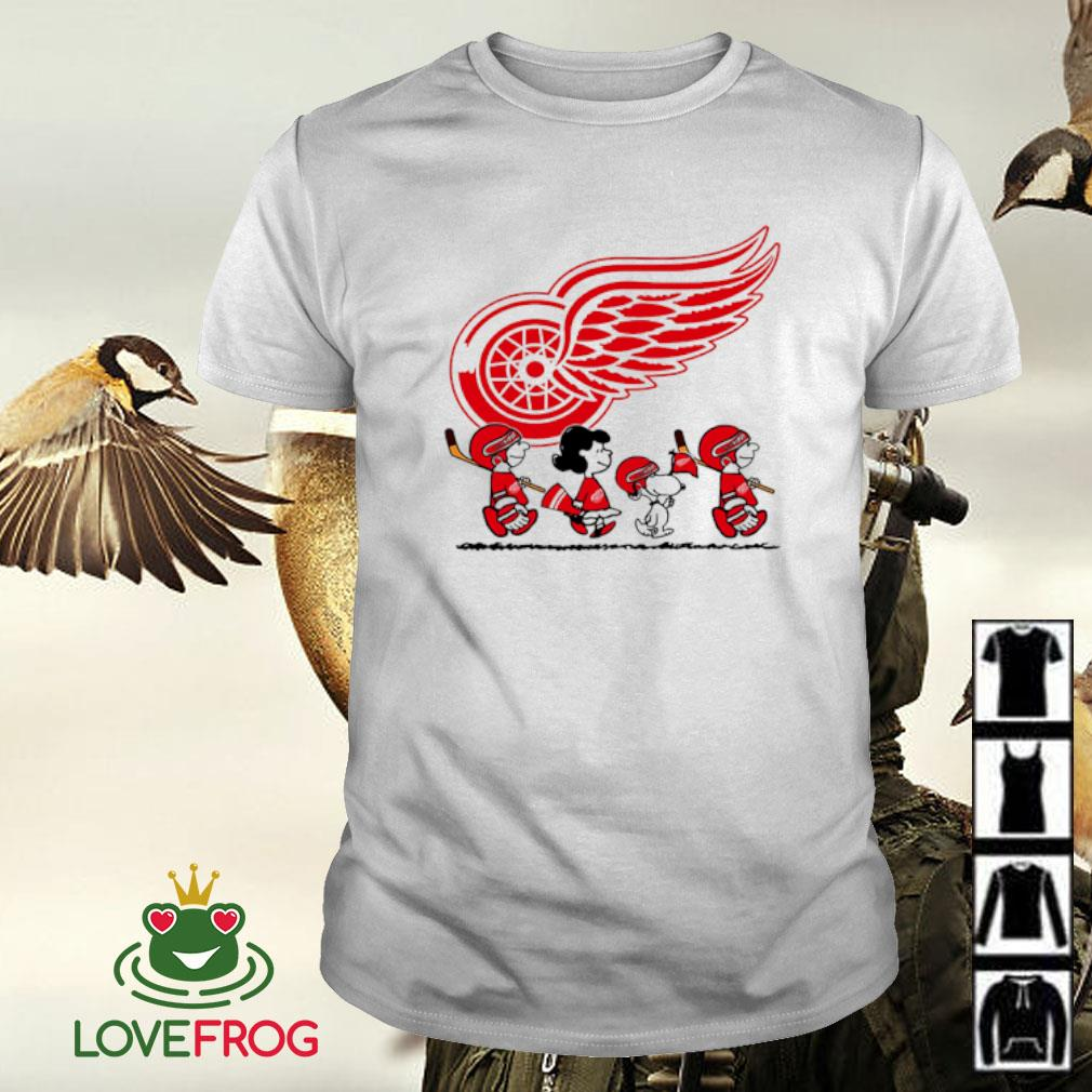 Snoopy and friends Detroit Red Wings Logo shirt