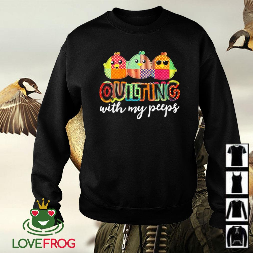 Quilting with my peeps s Sweater