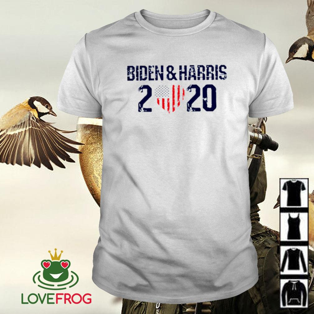 Biden and Harris 2020 heart American flag shirt