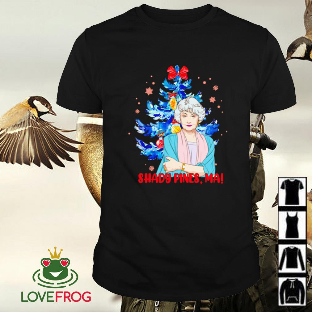 The Golden Girls shady pines ma Christmas shirt