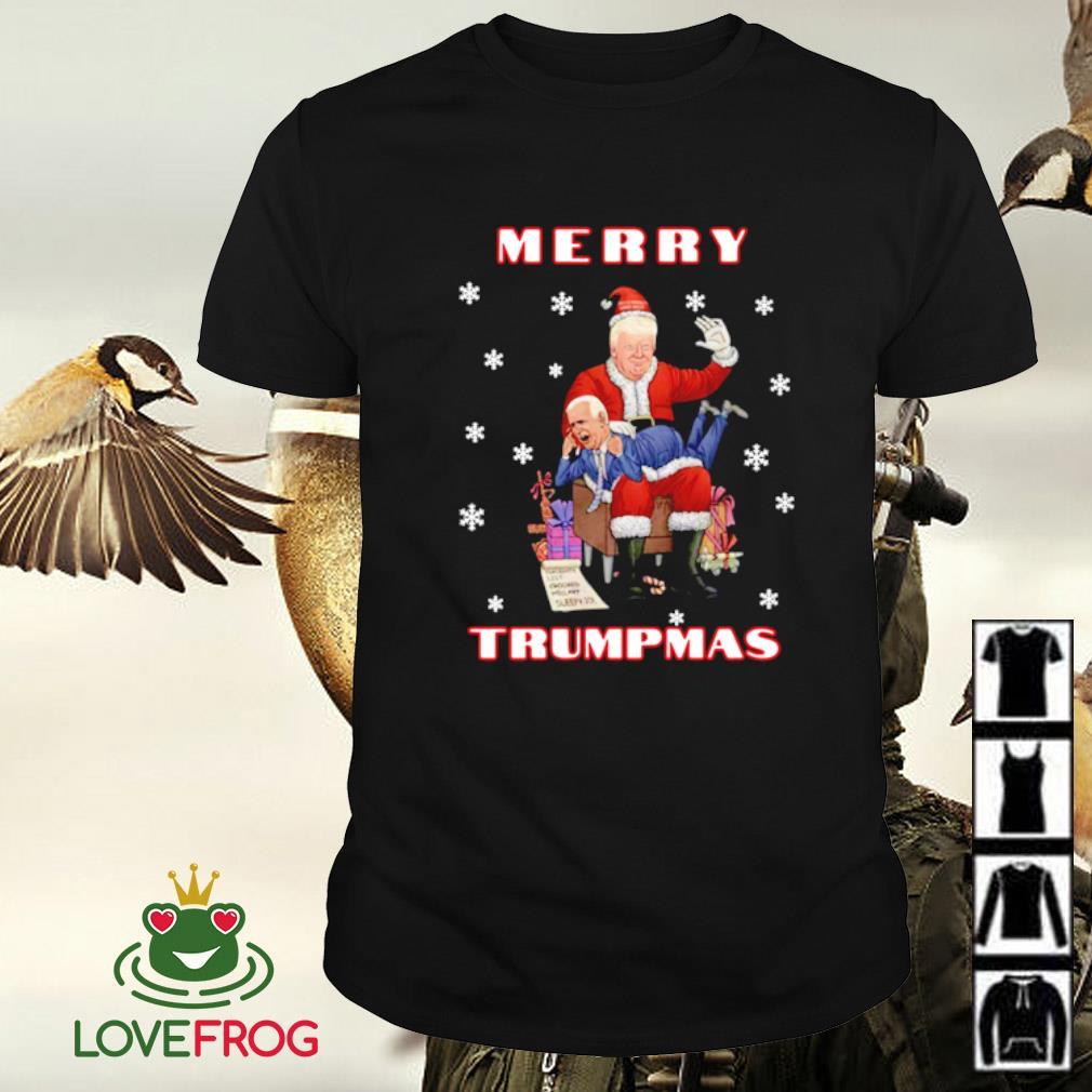 Trump Spanking Joe Biden Merry Trumpmas shirt