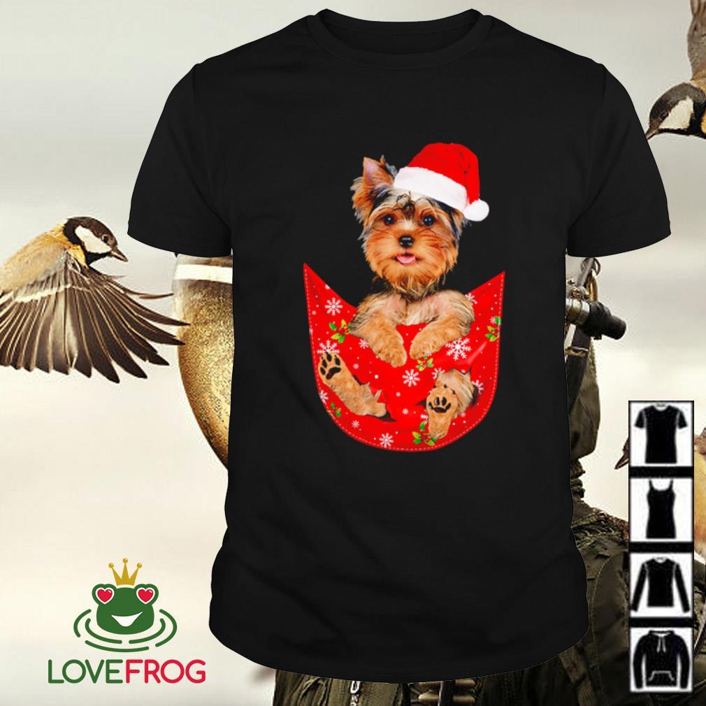 Yorkshire Terrier In Pocket Christmas shirt
