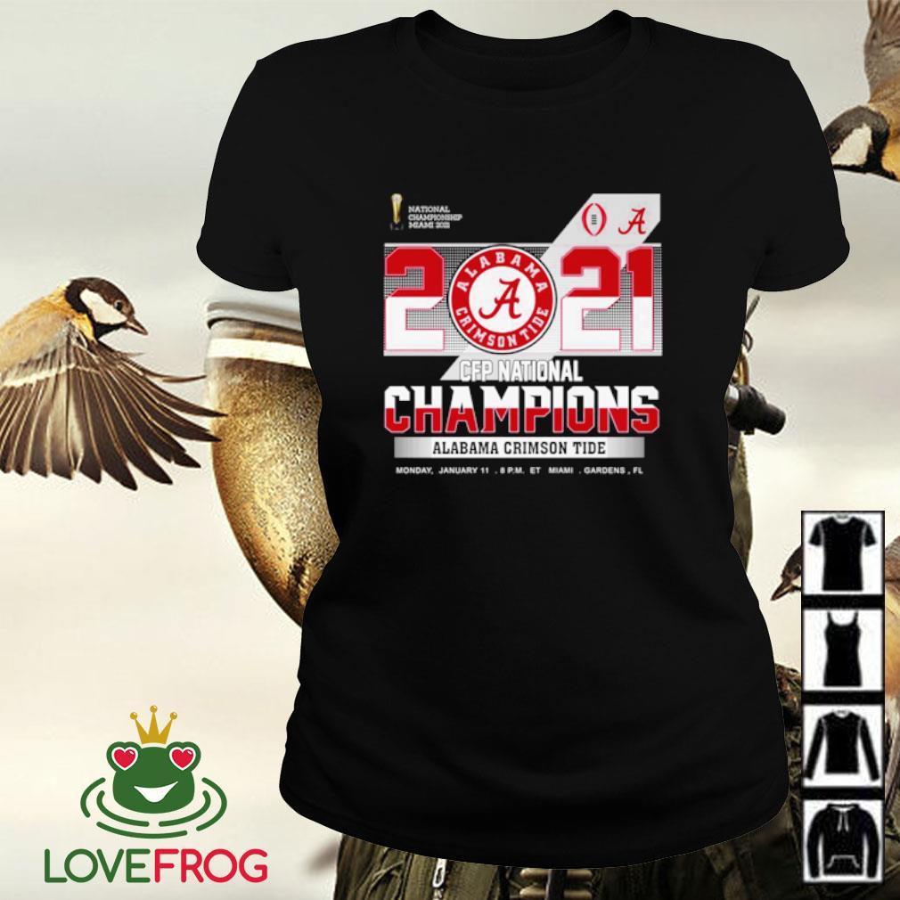 2021 CFP national Champions Alabama Crimson Tide s Ladies-tee