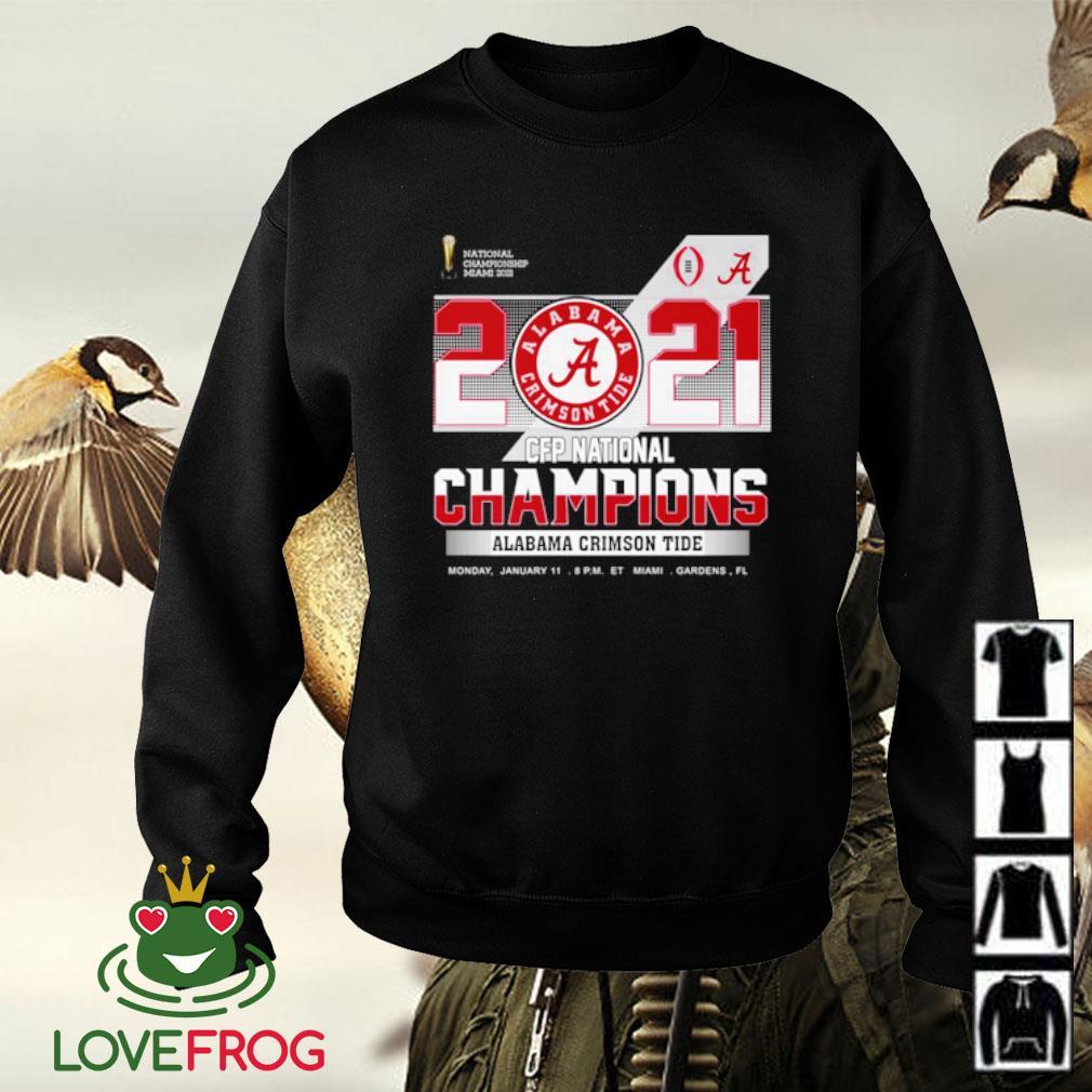 2021 CFP national Champions Alabama Crimson Tide s Sweater