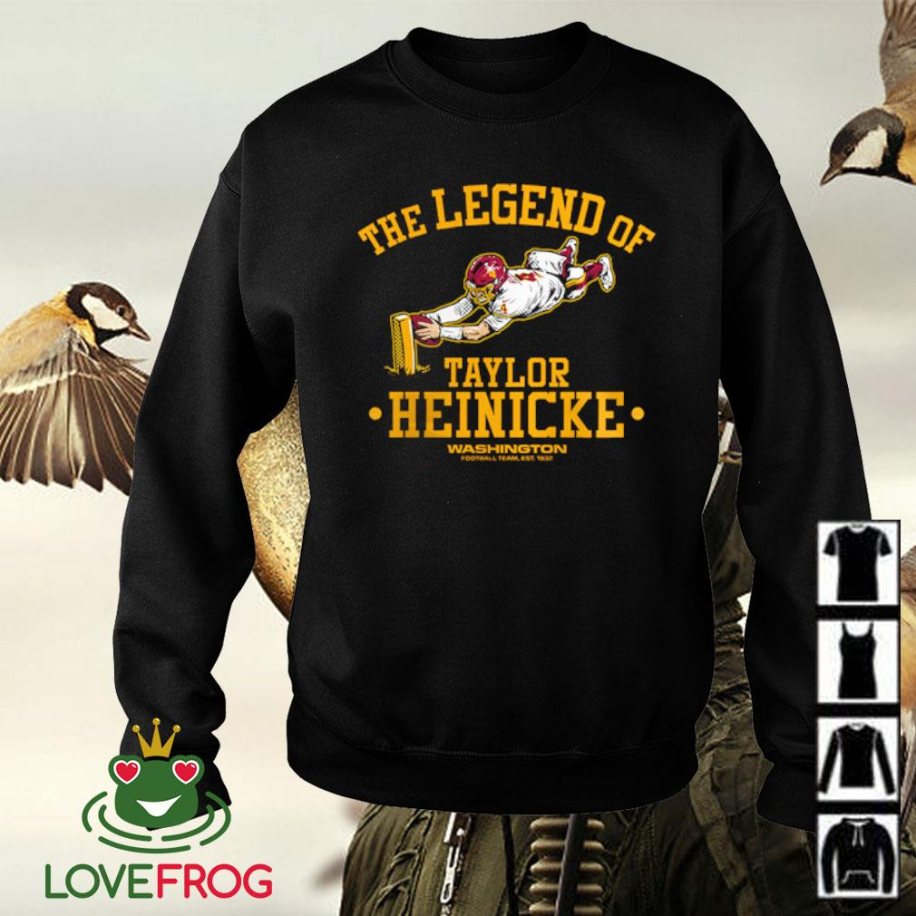 Washington Football Team Taylor Heinicke Burgundy The Legend of Taylor Heinicke s Sweater